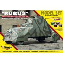 MIRAGE HOBBY 835091 [MODEL SET] 'KUBUŚ' (WARSAW'44 UPRISING ARMOURED CAR) 1/35