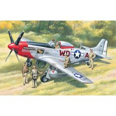 ICM 48153 MUSTANG P-51D WITH USAAF PILOTS AND GROUND PERSONNEL 1:48
