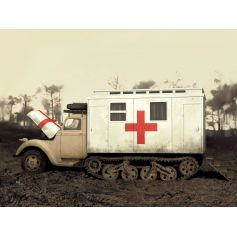 ICM 35414 V3000S/SS M MAULTIER WITH SHELTER, WWII GERMAN TRUCK 1:35