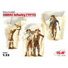 ICM 35685 ANZAC INFANTRY (1915) (4 FIGURES) 1:35