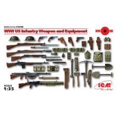 ICM 35688 WWI US INFANTRY WEAPON AND EQUIPMENT 1:35
