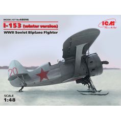 ICM 48096 I-153, WWII SOVIET BIPLANE FIGHTER (WINTER VERSION) 1:48