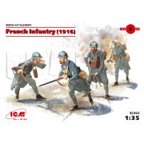AIRFIX 35691 French Infantry (1916) (4 figures) (100% new molds) 1:35