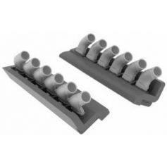 Spitfire Exhaust Stacks Rounded 1/48
