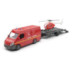 New Ray 19915C - Van Sapeurs Pompiers + Helico 1/43