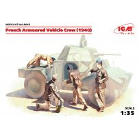 ICM 35615 French Armoured Vehicle Crew (1940), (4 figures) (100% new molds) 1/35