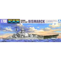 AOSHIMA 04259 WATERLINE OVERSEAS WARSHIP GERMAN BATTLESHIP BISMARCK 1:700