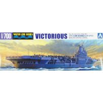 AOSHIMA 04602 WATERLINE OVERSEAS WARSHIP ROYAL NAVY AIRCRAFT CARRIER VICTORIOUS 1:700