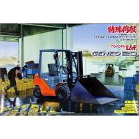 AOSHIMA 04815 SPECIAL CARGO WORK TOYOTA L&F JENEO20 (COUNTER LIFT) & SNOWPLOW KIT 1:32