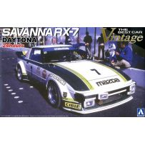 AOSHIMA 04745 THE BEST CAR VINTAGE SAVANNA RX-7 DAYTONA 24HOURS 1979(GREEN) (MAZDA) 1:24