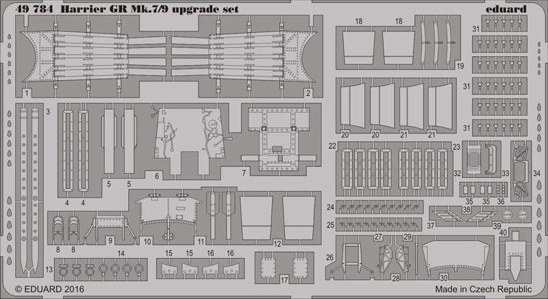 Eduard Edua49784 Harrier Gr Mk.7//9 Upgrade Set 1//48