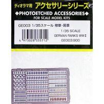 GUNZE GE003 GERMAN RANKS WW2