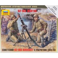 Mortier Sovietique Et Servants 1/72