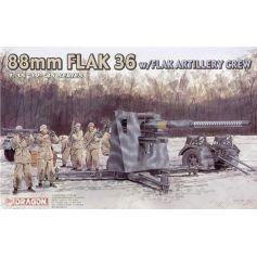 Flak 36 88mm Et Servants 1/35