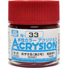 GUNZE N033 ACRYSION 10ML RUSSET TRAIN BRILLANT
