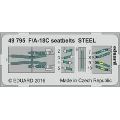 F/A-18c Seatbelts Steel 1/48