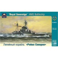 ARK MODELS 40013 HMS ROYAL SOVEREIGN BRITISH BATTLESHIP 1:500
