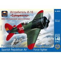 "Ark Model 48020 - Polikarpov I-16 Type 10 ""Super Mosca"" the Spanish Republican Air Force fighter 1/48"