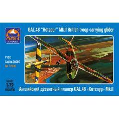 ARK MODELS 72009 GAL.48 HOTSPUR MK.II BRITISH TROOP CARRYING GLIDER 1/72