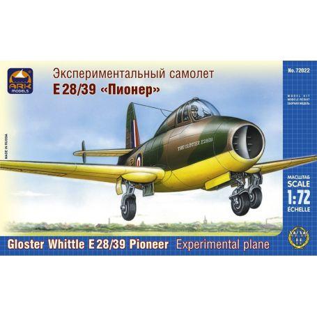 claisse - CLEAR PROP -1/72 - GLOSTER PIONEER - Un jet avec pilote FAFL, c'est pas commun! Maurice Claisse Ark-models-72022-gloster-whittle-e28-39-pioneer-british-experimental-plane-1-72
