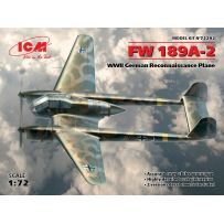 ICM 72292 FW 189A-2, WWII GERMAN RECONNAISSANCE PLANE 1/24 (10-16)