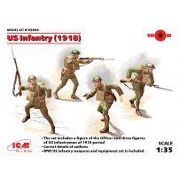 ICM 35693 INFANTERIE US INFANTRY (1918) (4 FIGURES) 1/35 (12/16)