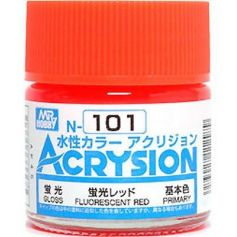 GUNZE N101 ACRYSION 10 ML FLUORESCENT RED A L'UNITE