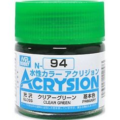 GUNZE N094 ACRYSION 10 ML CLEAR GREEN A L'UNITE