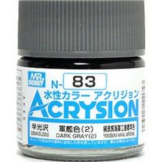 GUNZE N083 ACRYSION 10 ML DARK GREY (2) A L'UNITE