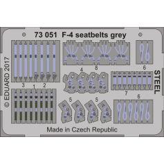 F-4 Seatbelts Grey Steel 1/72