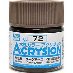 GUNZE N072 ACRYSION 10 ML DARK EARTH A L'UNITE