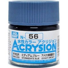 GUNZE N056 ACRYSION 10 ML INTERMEDIATE BLUE A L'UNITE