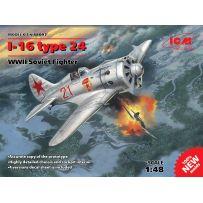 ICM 48097 AVION I-16 TYPE 24 WWII SOVIET FIGHTER 1/48 (12/16)