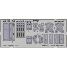 F-4 Seatbelts Grey Steel 1/48