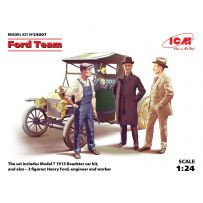 ICM 24007 FORD MODEL T 1913 ROADSTER + 3 FIGURINES 1/24