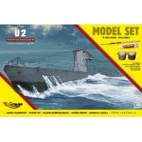 Mirage Hobby 840065 - [MODEL SET] GERMAN U-BOOT U-2 ( type IIA) 1/400