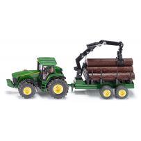 Tracteur Avec Remorque Forestière 1/50