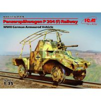 ICM 35376 PANZERSPAHWAGEN P 204 (f) RAILWAY WWII GERMAN ARMOURED VEHICLE 1/35