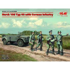 Horch 108 Typ 40 Avec Infanterie 1/35