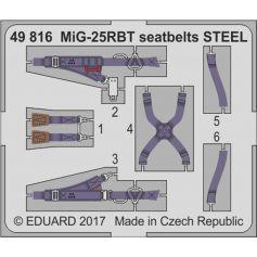 Mig-25rbt Seatbelts Steel 1/48