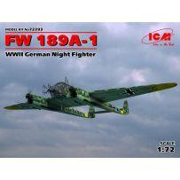 ICM 72293 FOCKE-WULF FW 189A-1, WWII GERMAN NIGHT FIGHTER 1/72
