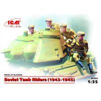 ICM 35640 SOVIET TANK RIDERS (1943-1945) (4 FIGURES) 1/35