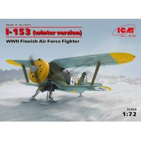 ICM 72075 I-153, WWII FINNISH AIR FORCE FIGHTER (WINTER VERSION) 1/72