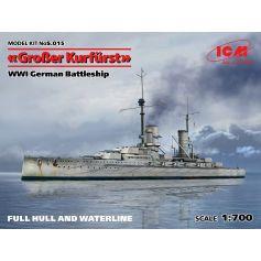 Groβer Kurfürst full hull & waterline WWI German Battleship 1/700