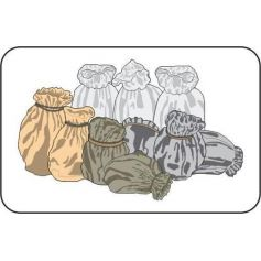 CMK B72039 GERMAN WWII SACKS (10 PCS) 1/72
