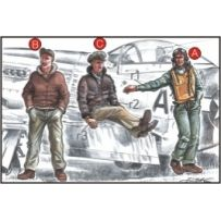 CMK F72039 US ARMY PILOTS (2 FIG) AND MECHANIC WWII 1/72