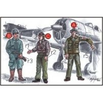CMK F72042 JAPANESE ARMY PILOTS (2 FIG) AND MECHANICS WWII 1/72