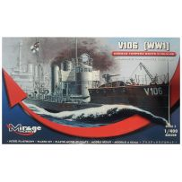 MIRAGE HOBBY 400208 V106 GERMAN WWI TORPEDO SHIP 1/400