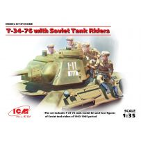 T-34-76 WITH SOVIET TANK RIDERS 1/35 (07/17)
