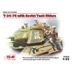 T-34-76 with Soviet Tank Riders 1/35